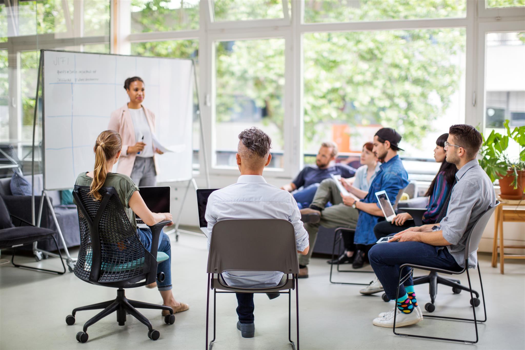 Präsentation eines Themas in einer Gruppe
